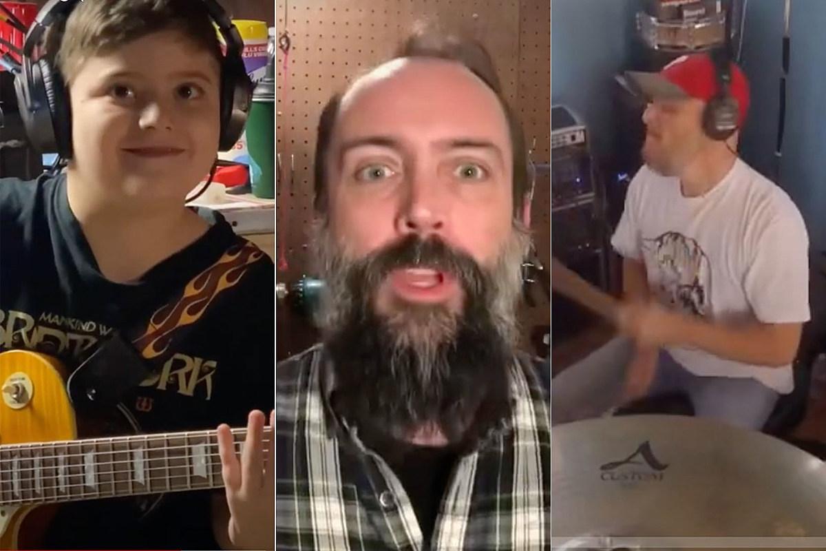 El dúo de padre e hijo crea una canción original con Neil Fallon de Clutch
