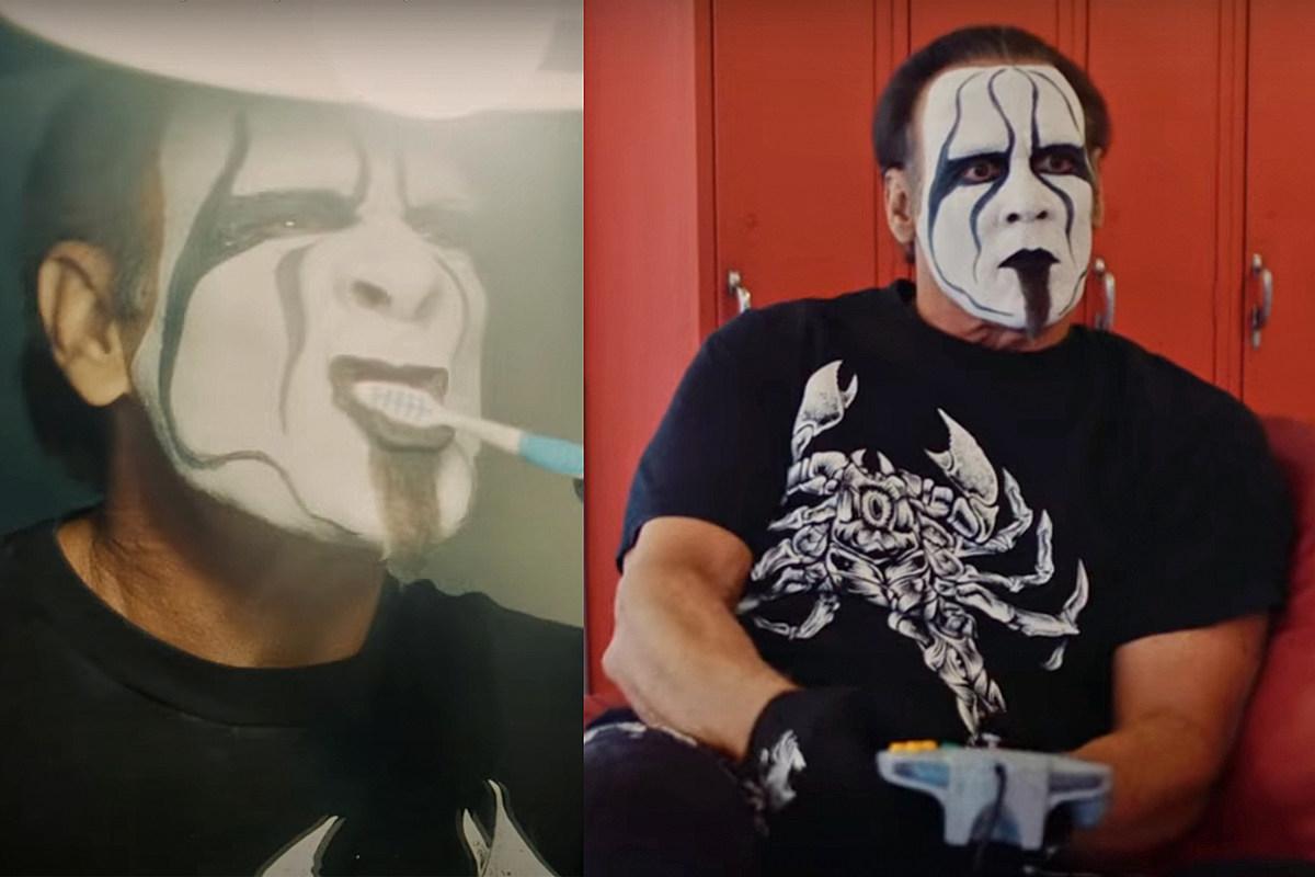 El luchador Sting se cepilla los dientes y toca N64 en el video de New Islander