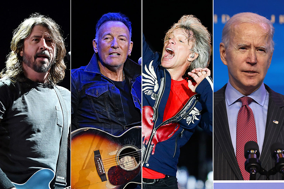 Foo Fighters, Springsteen + Jon Bon Jovi interpretan a Biden Inauguration