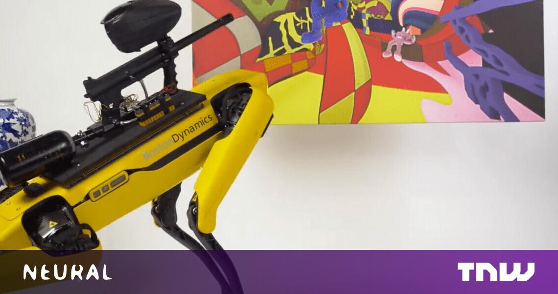 Boston Dynamics no quiere que dispare bolas de pintura desde Spot the robot