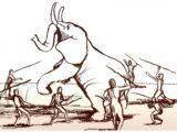 El cerebro humano creció como resultado de la extinción de animales grandes.